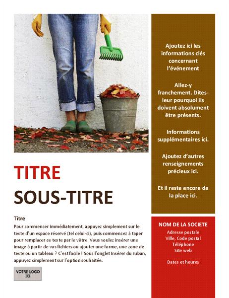 Prospectus d'événement saisonnier (automne)