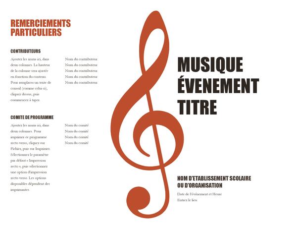 Muziekprogrammaboekje