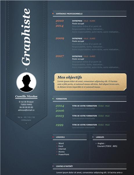 CV créatif (design vertical)