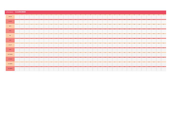 Calendrier perpétuel (horizontal)