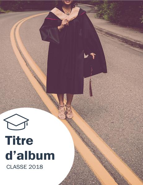 Album photos de remise de diplôme (conception Textures)