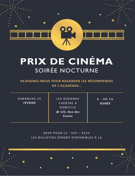 Partyeinladung für Filmpreise