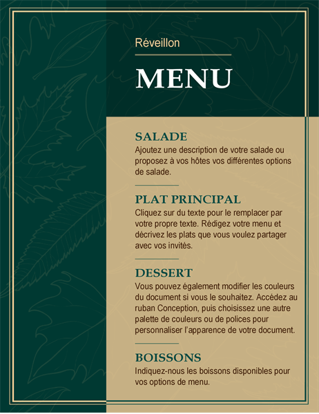 Elegant Thanksgiving-menu