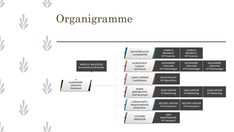 Horizontales Organigramm