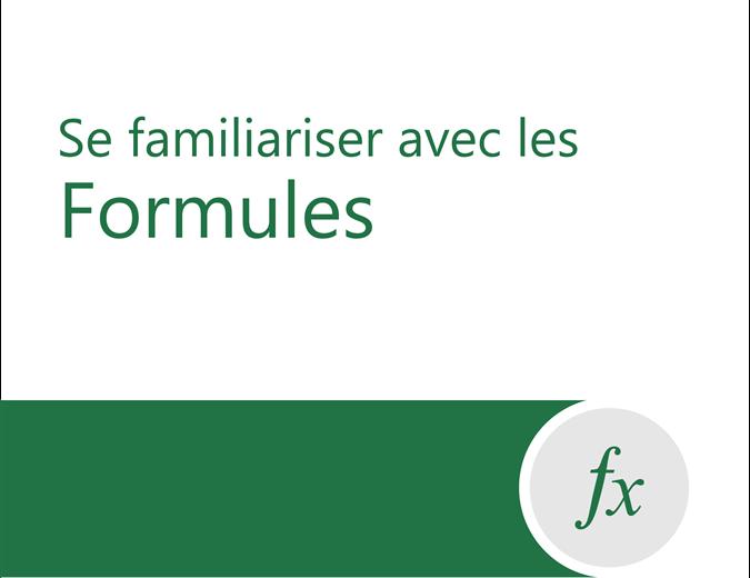 Didacticiel sur les formules