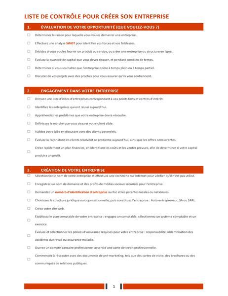 Kontrollliste für die Gründung eines Unternehmens