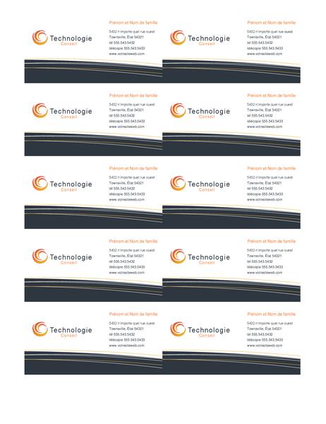 Carte postale entreprise de technologie (10 par page)