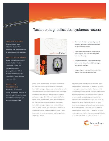 Gegevensblad voor technologiebedrijf (dubbelzijdig)