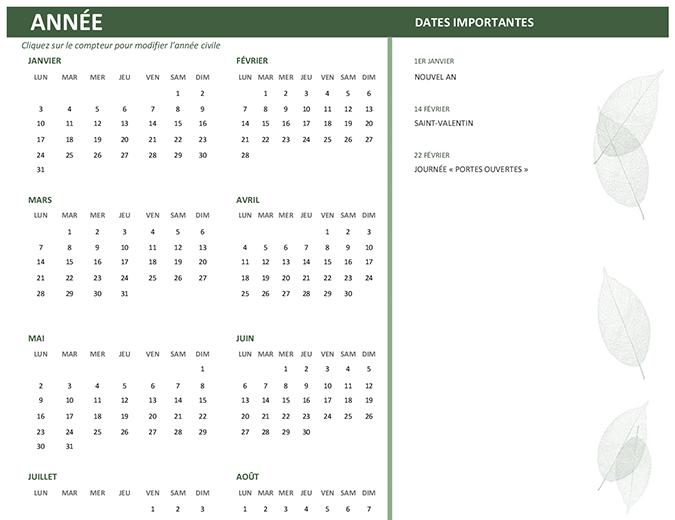 Bedrijfskalender (elk jaar, zo-za)