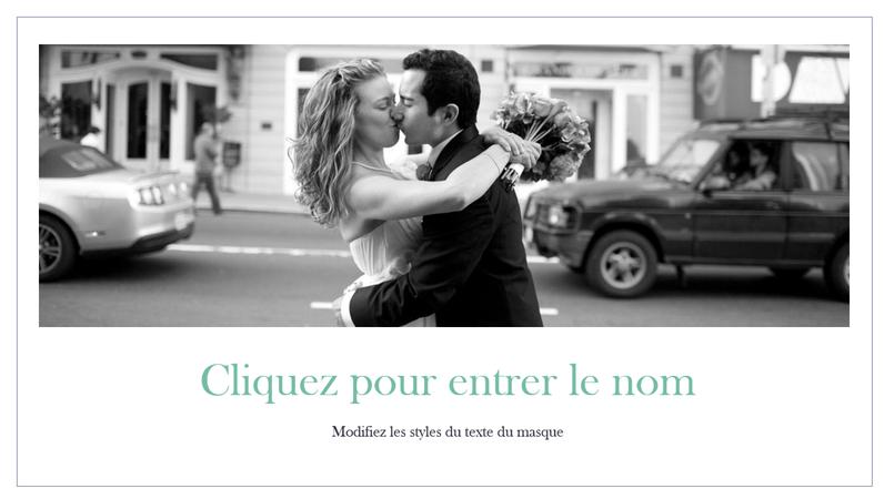 Album photo de mariage simple