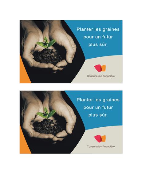 Ansichtkaart voor financieel bedrijf (2 per pagina)