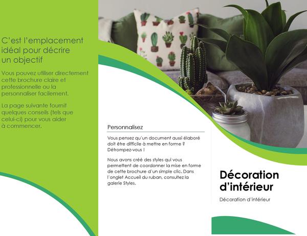 Brochure de décoration d'intérieur