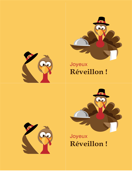 Carte de Thanksgiving Dinde joyeuse