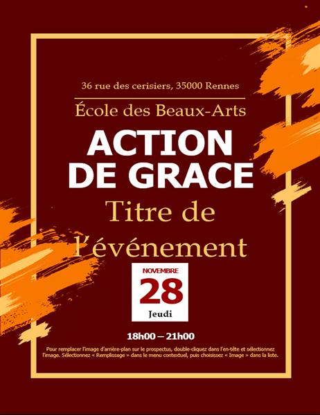 Prospectus d'invitation pour Thanksgiving