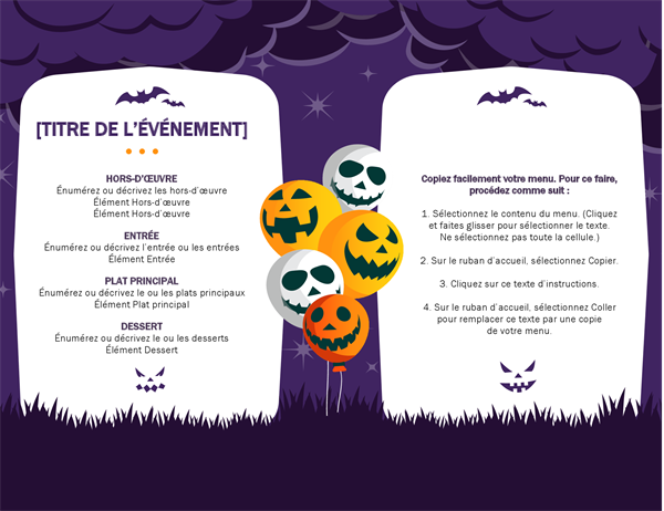 Spookachtig Halloween-menu