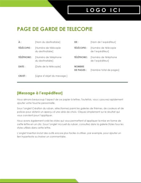 Page de garde de télécopie Logo gras