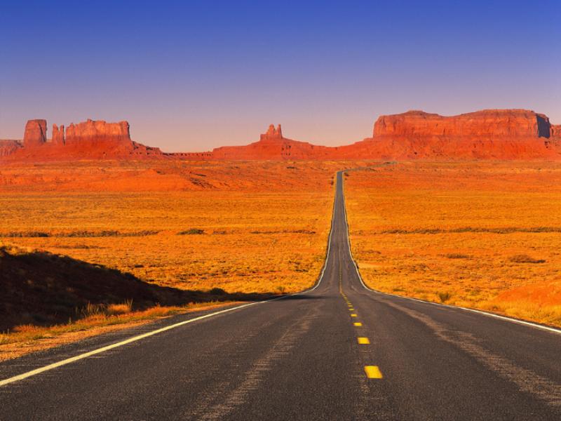 Thème désert - Route droite