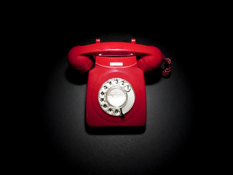 Thème design - Communication téléphone rouge