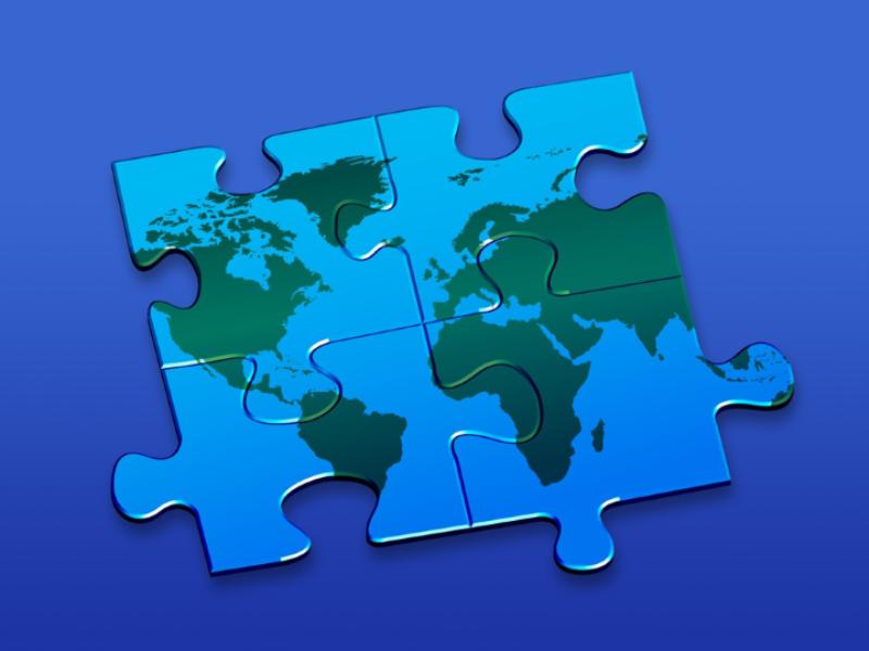 Thème design - Monde puzzle
