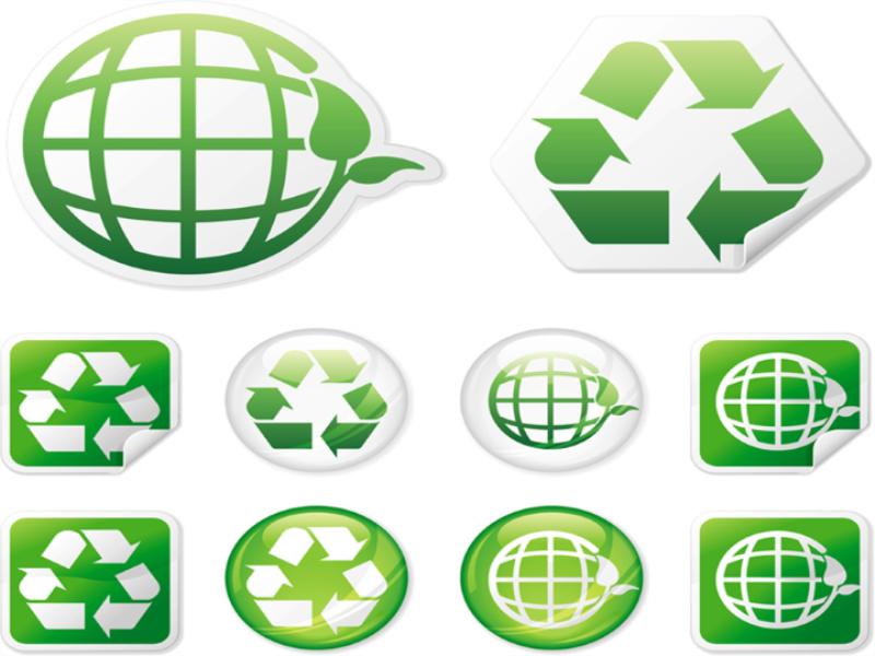 Thème écologie - Symboles recyclage