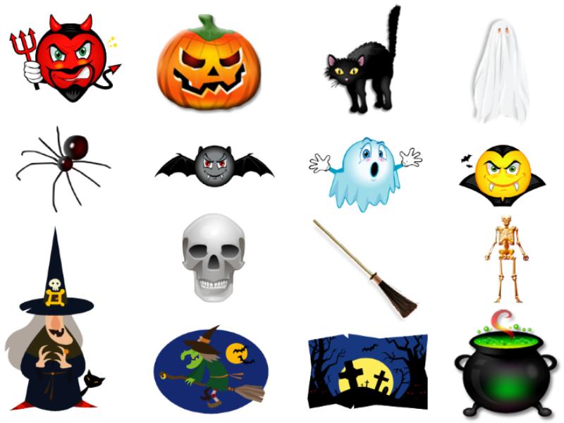 Thème halloween - Figurines à découper