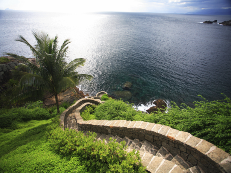 Thème mer - Escalier vers la baie