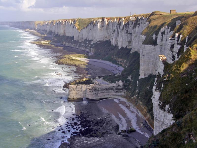 Thème mer - Falaise de Normandie