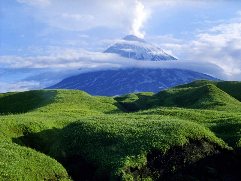 Thème montagne - Volcan en colère