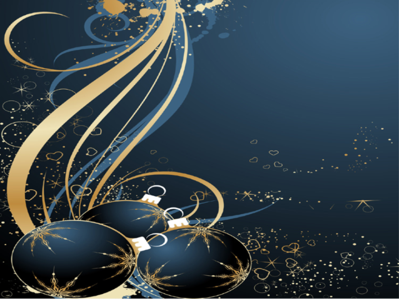 Thème noel - Concept bleu doré
