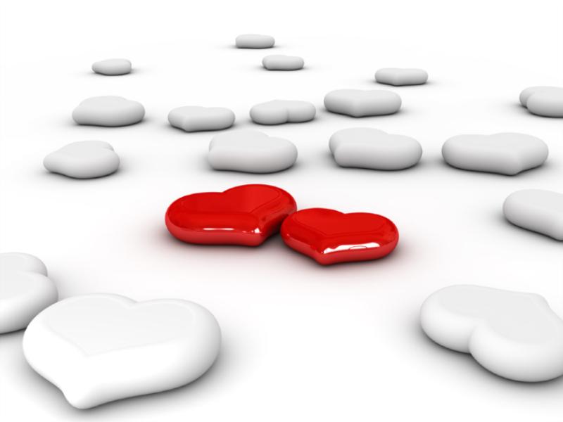 Thème Saint Valentin - Duo coeurs rouges