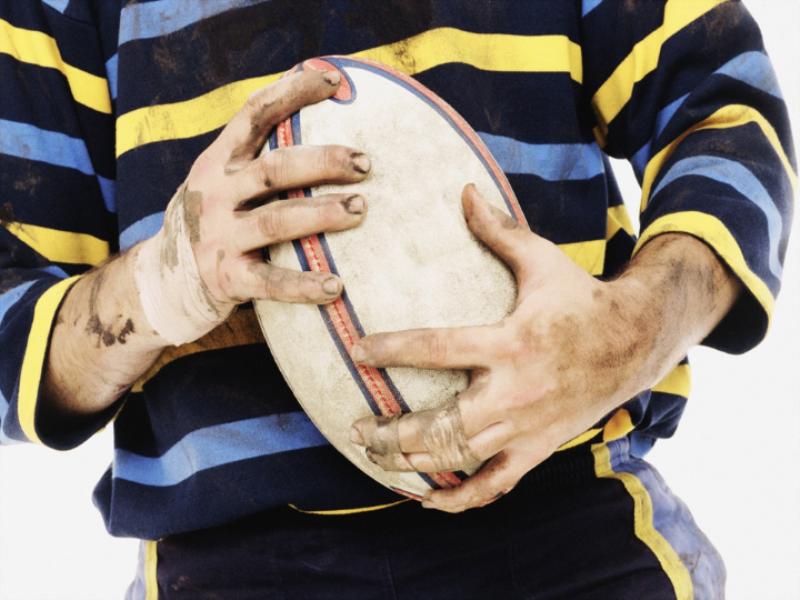 Thème rugby - Ballon dans les mains