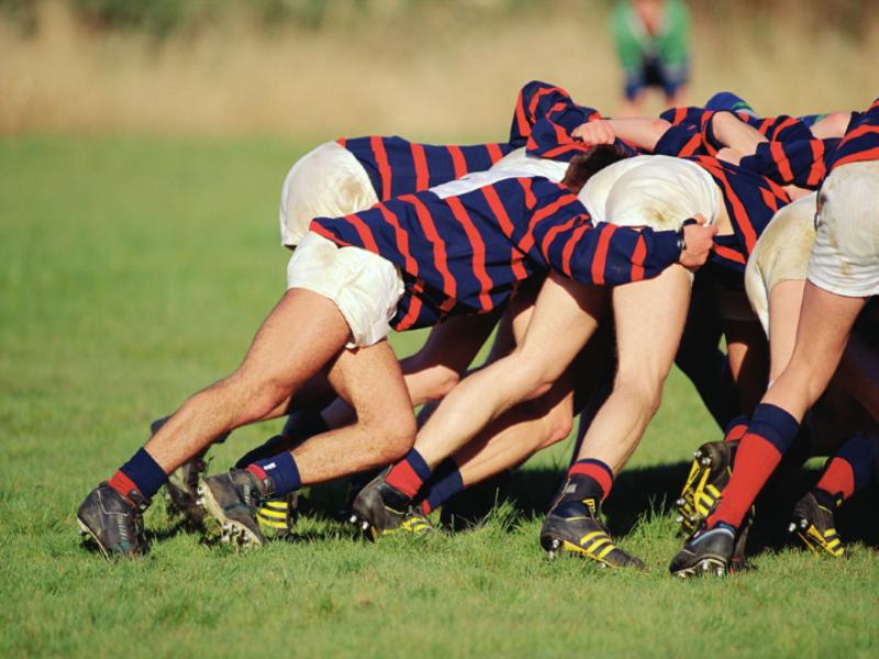 Thème rugby - Mêlée