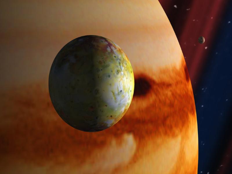 Thème espace - Planète satellite