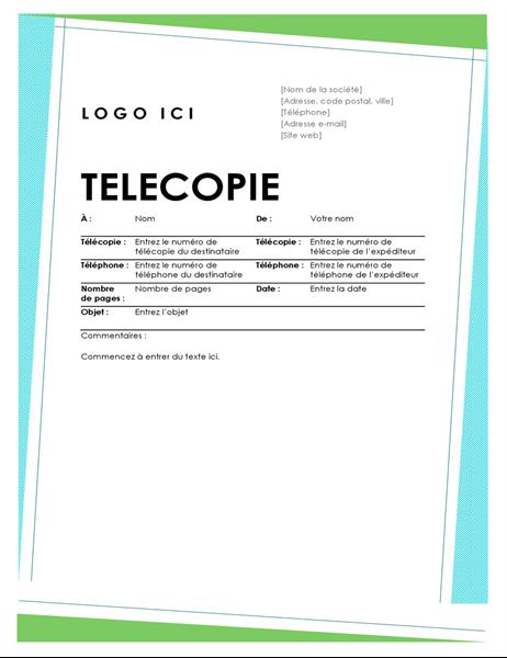 Geometrisch faxvoorblad
