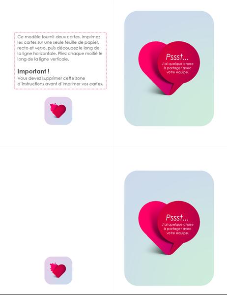 Carte secrète de Saint-Valentin d'admirateur