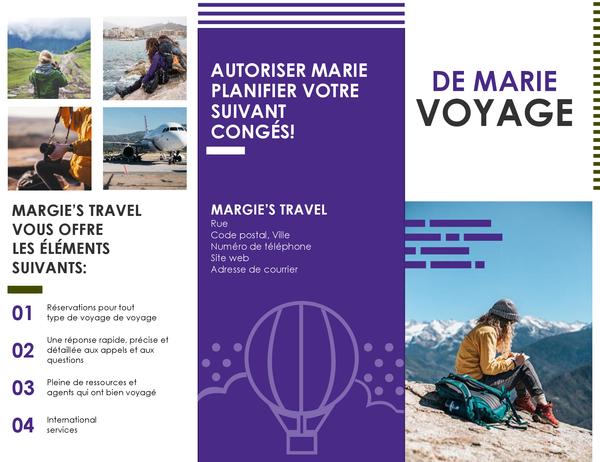 Brochure de voyage