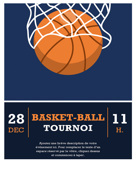 Prospectus de tournoi de basket-ball