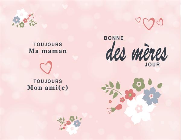 """Muttertagskarte """"hübsches Rosarot"""""""