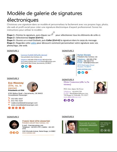 Katalog für E-Mail-Signatur