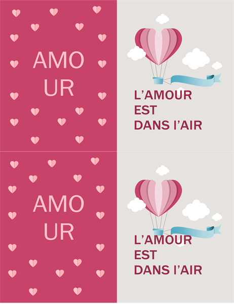 L'amour est partout autour de nous: carte de la Saint-Valentin