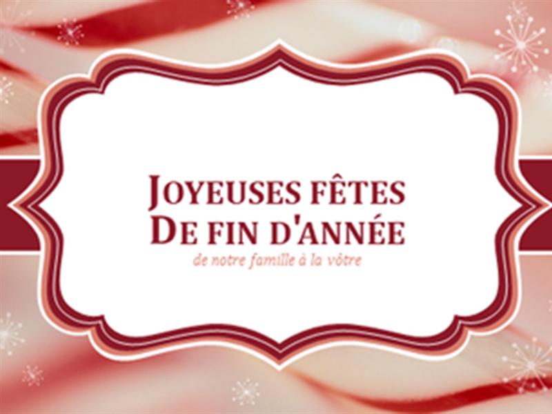 Torsades de sucre d'orge - cartes de Noël (2 par page)
