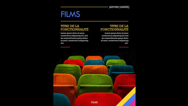 Couvertures de magazines cinématographiques