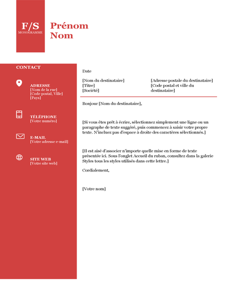 Deckblatt mit Monogramm in Fettdruck