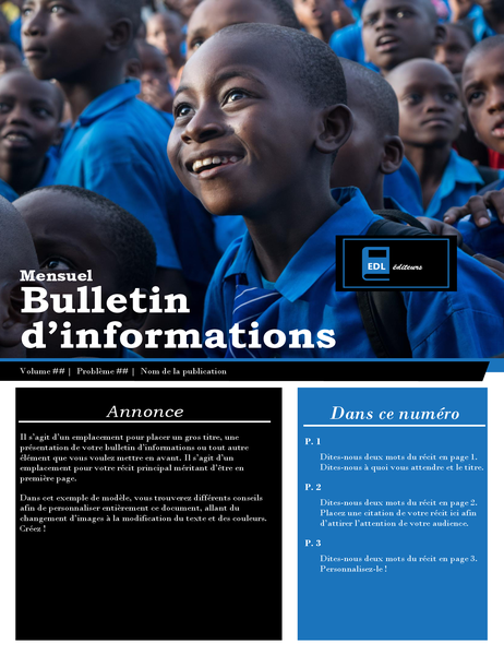 Bulletin d'informations pour les associations à but non lucratif