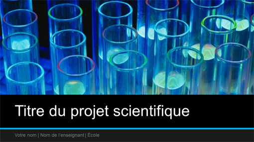 Présentation de projet scientifique (grand écran)