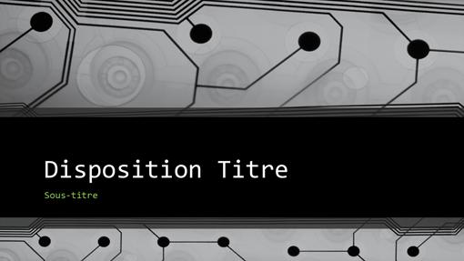 Présentation professionnelle «techno» (grand écran)