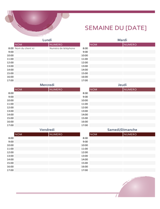 Rose Suite – Terminkalender