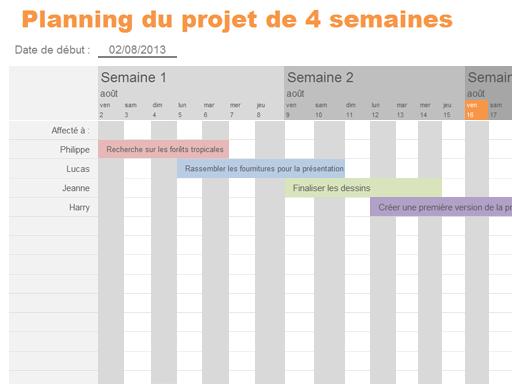 Barre de planning de projet - Templates - Office.com