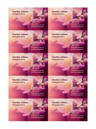 Cartes de visite avec fleurs