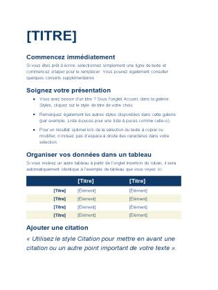 Papier standard (circulaire)